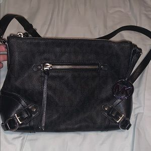 Michael Kors Black crossbody with silver hardware